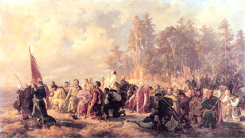 Artur Grottger Modlitwa Konfederatów barskich przed bitwą pod Lanckoroną