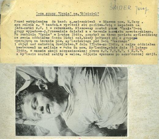 Mściciel po śmierci i notatka ub o jego działalności